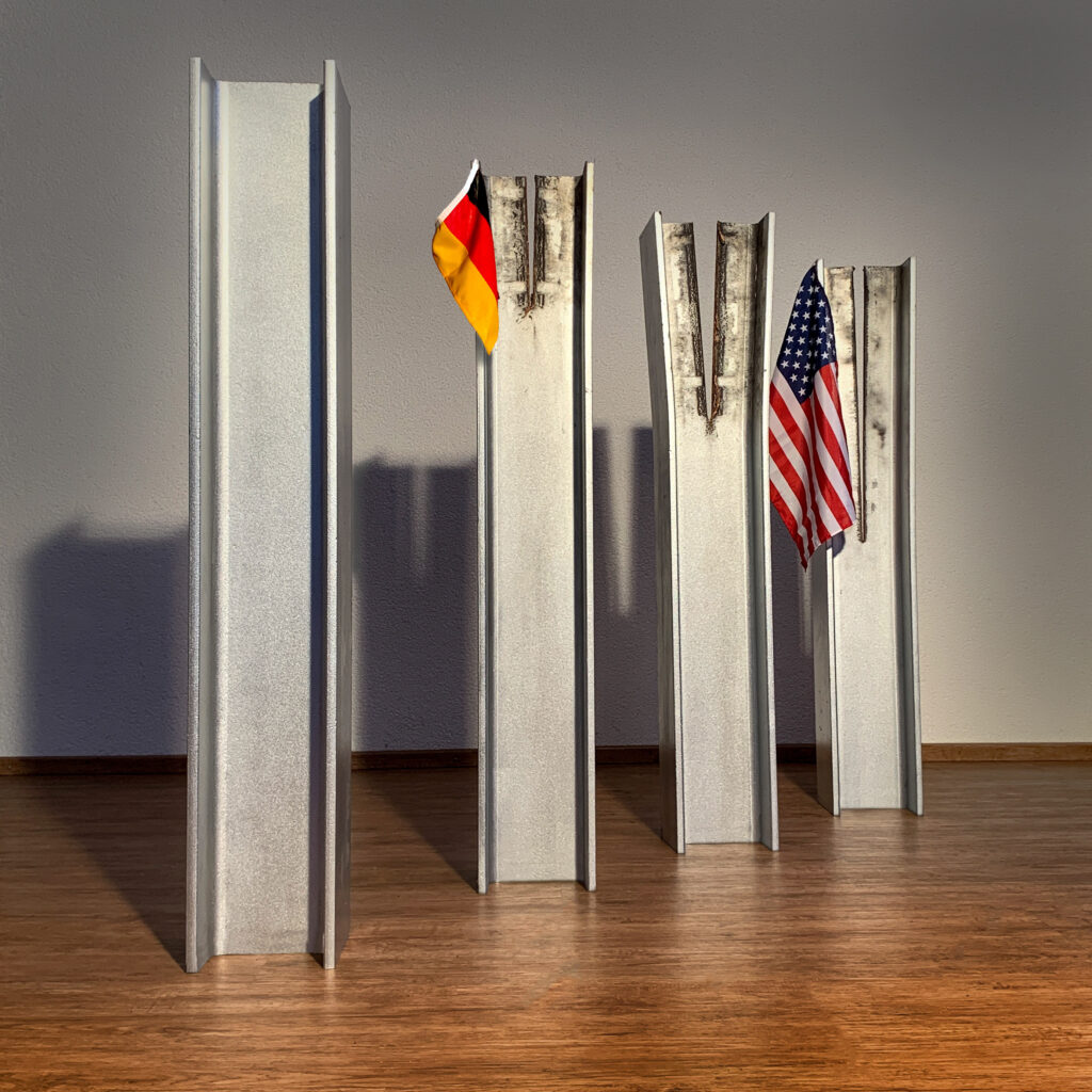 Vier Stahlträger